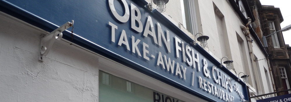 Oban Fish and Chip Shop Sign